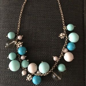 JCrew Turquoise and White Necklace